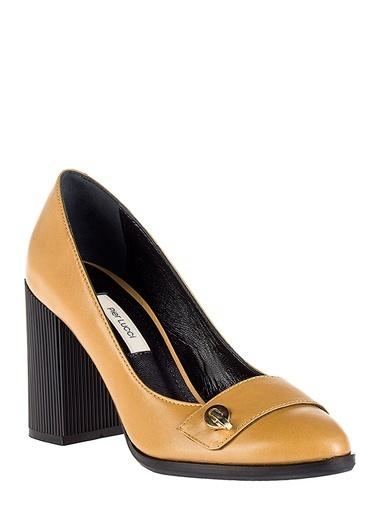Pier Lucci Topuklu Ayakkabı Hardal